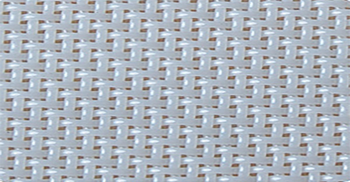 The White Plain Weave Linear Screen Fabric